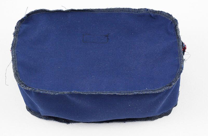 Tasche nähen - Citybag Boston mit Schnittmuster - 06 Seitenteil eingenäht