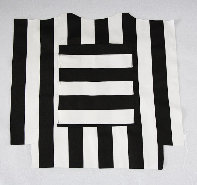 Tasche nähen mit Geheimfach und Hong Kong Finish - 03 Tasche aufsetzten