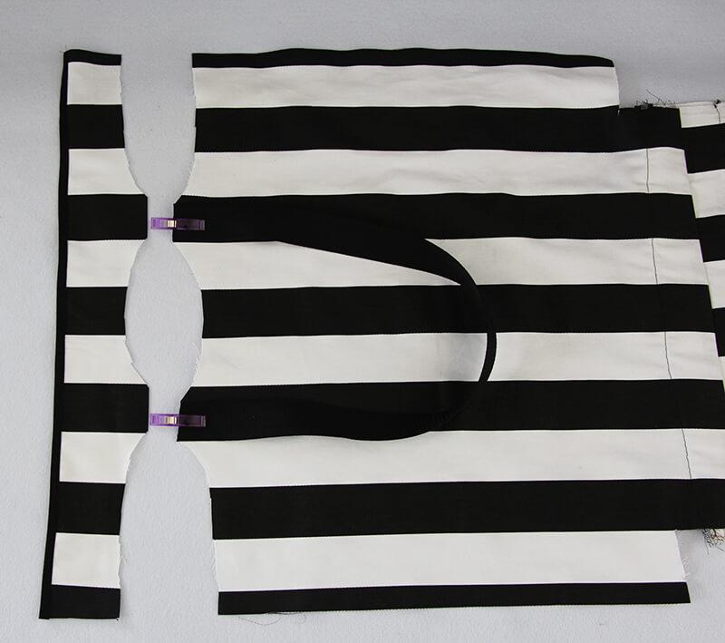 Tasche nähen mit Geheimfach und Hong Kong Finish - 08 Blende vorbereiten