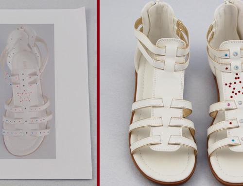 Ferienprojekt ✨ Sandalen mit Strass verschönern ✨ mit Strass-Applikator