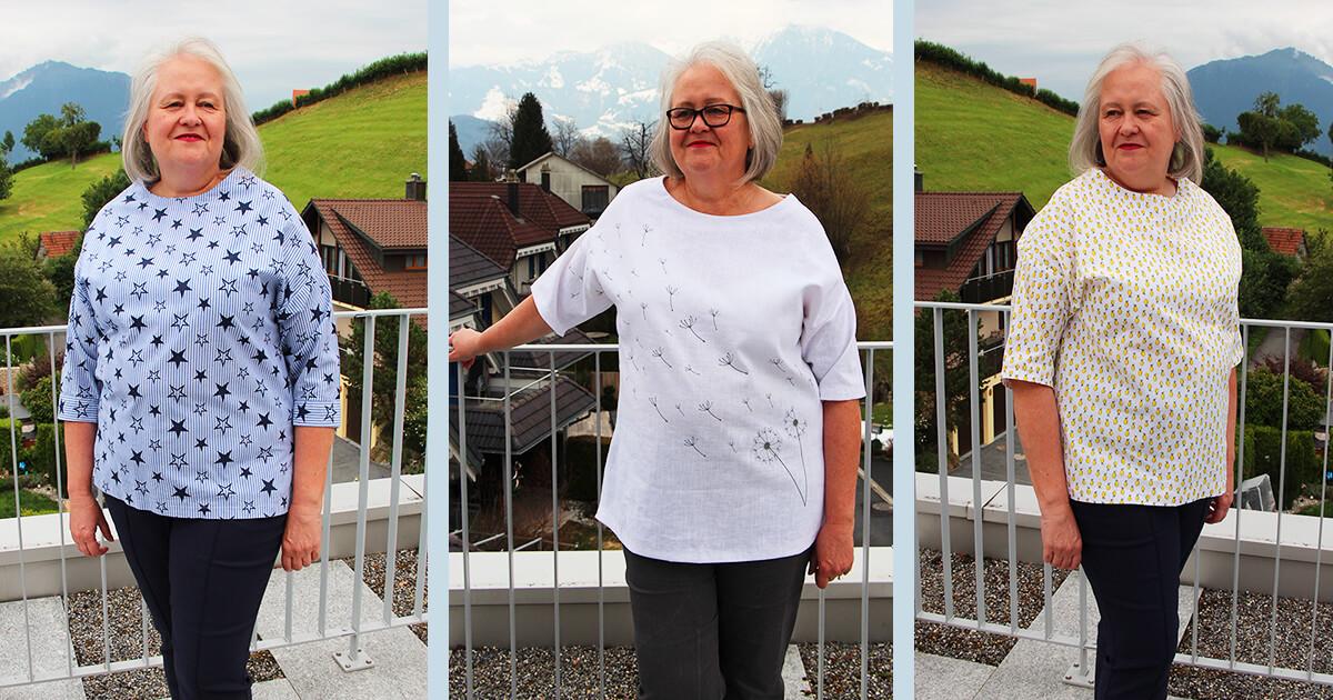 Bluse nähen für Anfänger Grösse 36-52 Bluse Dorren