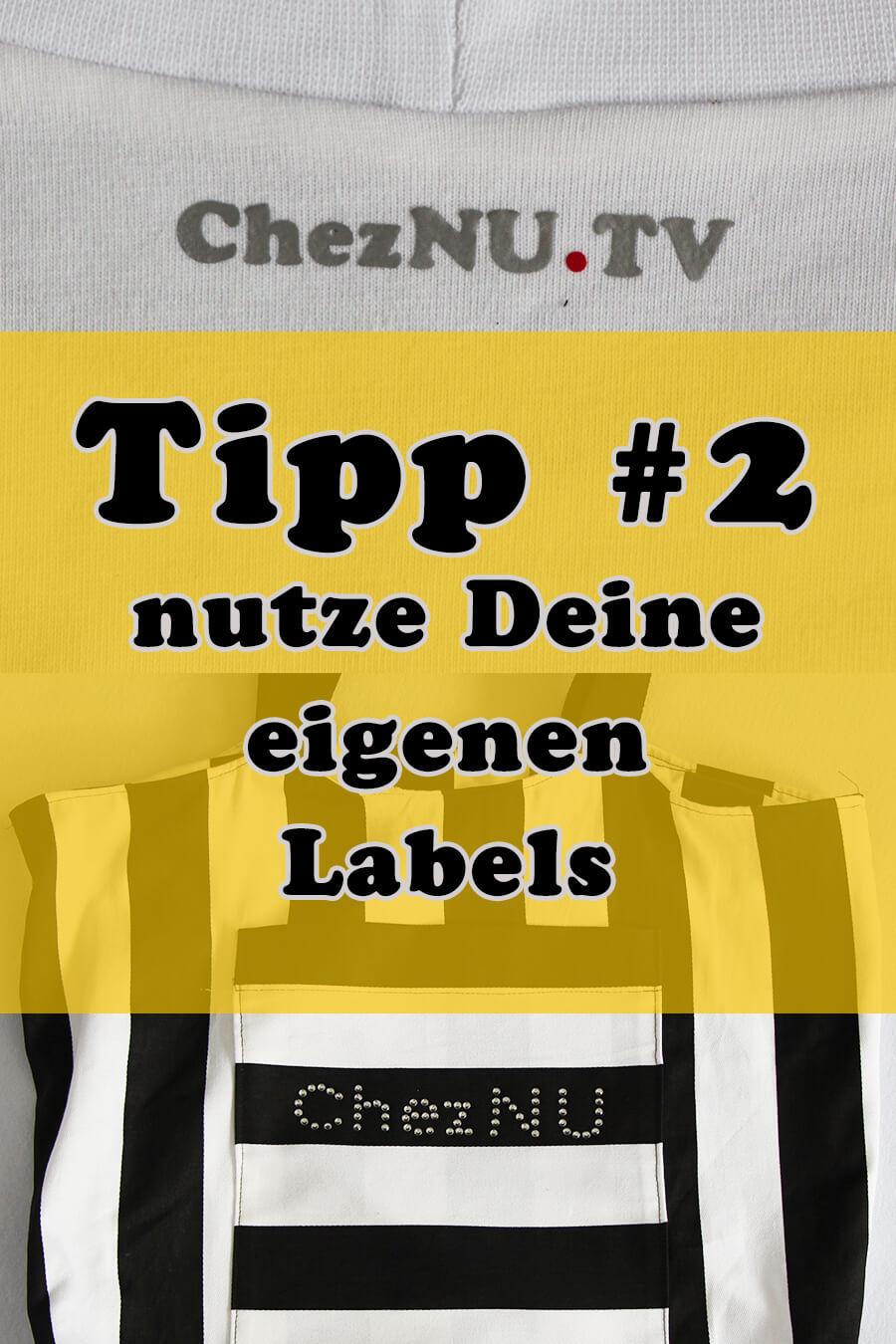 Tipp 2 eigene Labels sehen professionell aus