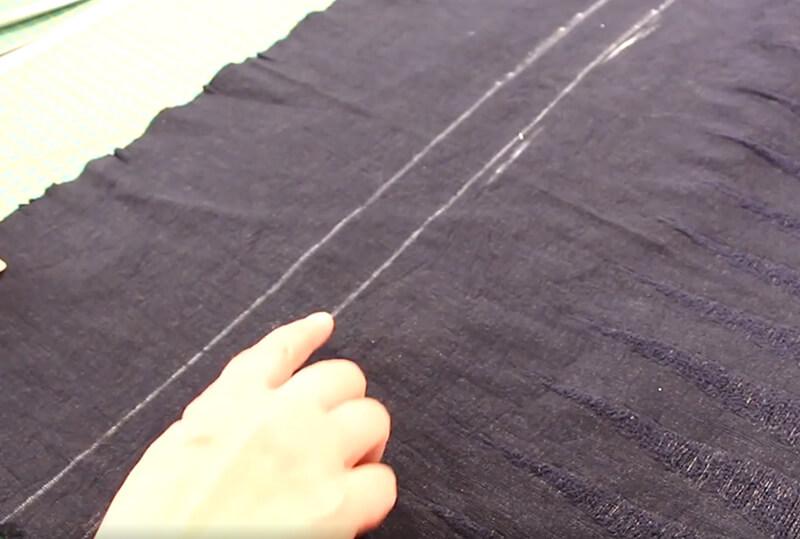 Kleid nähen ohne Schnittmuster 01 Oberteil kürzen