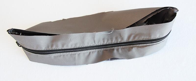 Crossbag Rucksack Slingbag nähen 06 Reissverschluss