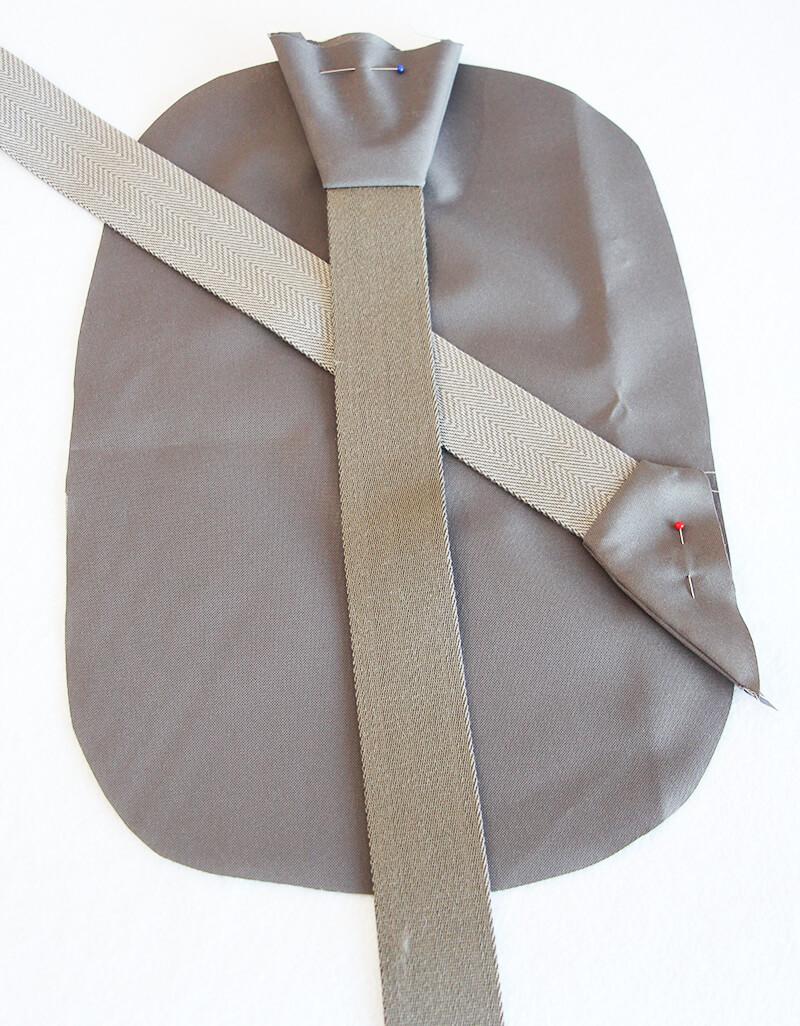 Crossbag Rucksack Slingbag nähen 09 Gurte angenäht