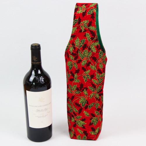Flaschentasche Schnittmuster mit Weinflasche