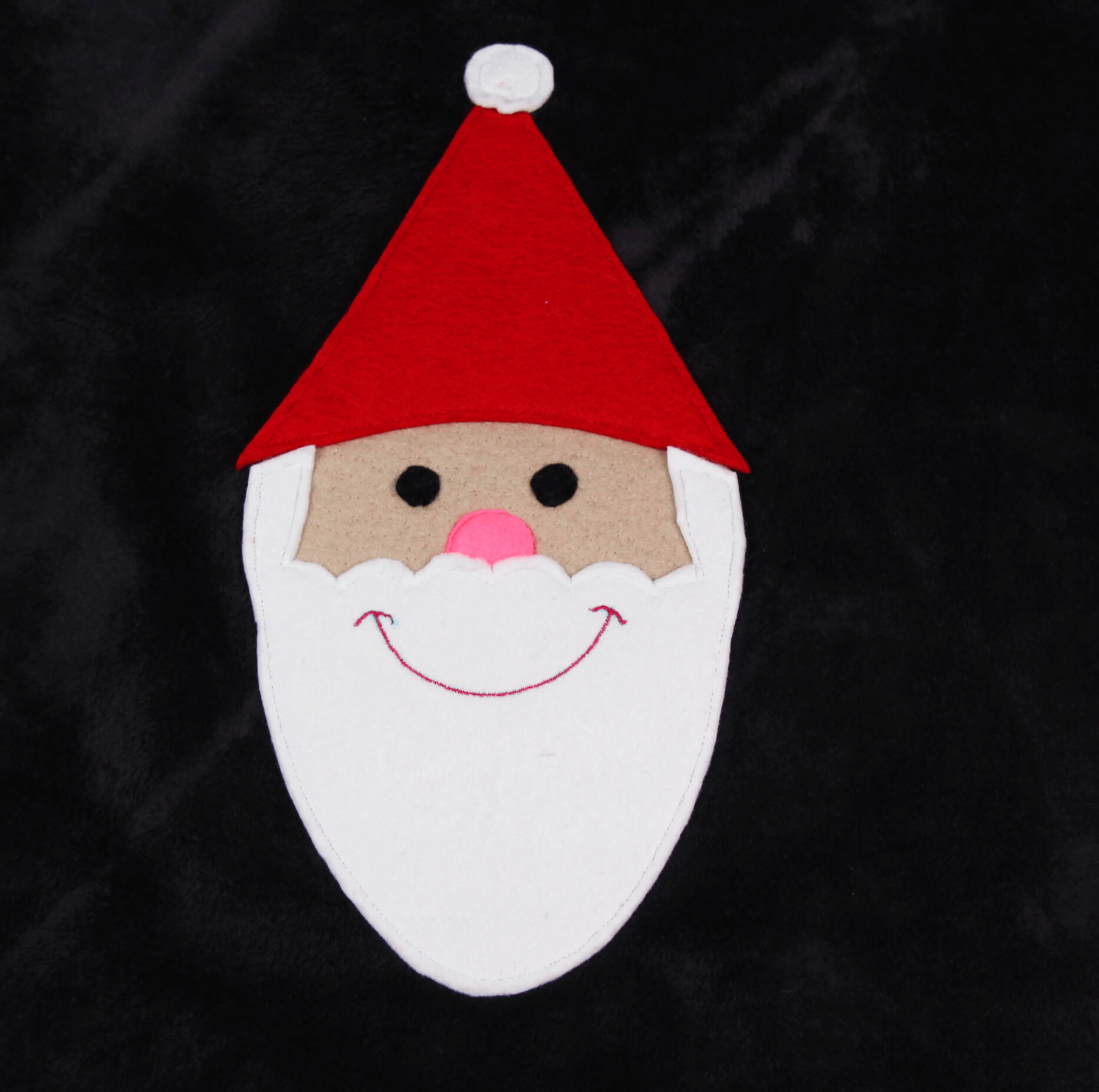 Nähen für Advent - Nikolaus applizieren 05 fertigt apliziert