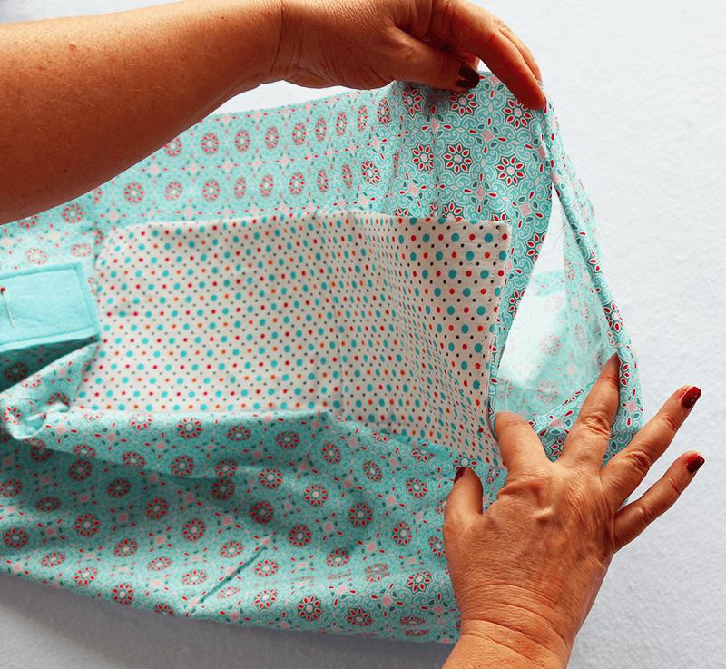 Tasche mit Reissverschluss und Innenfutter nähen - 13 Verschluss nähen