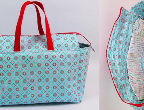 Tasche mit Reissverschluss und Innenfutter nähen ✂️ Tasche Stolberg