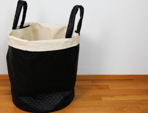 Wäschekorb nähen mit herausnehmbarem Futter 🧺 DIY Riesen-Utensilo nähen