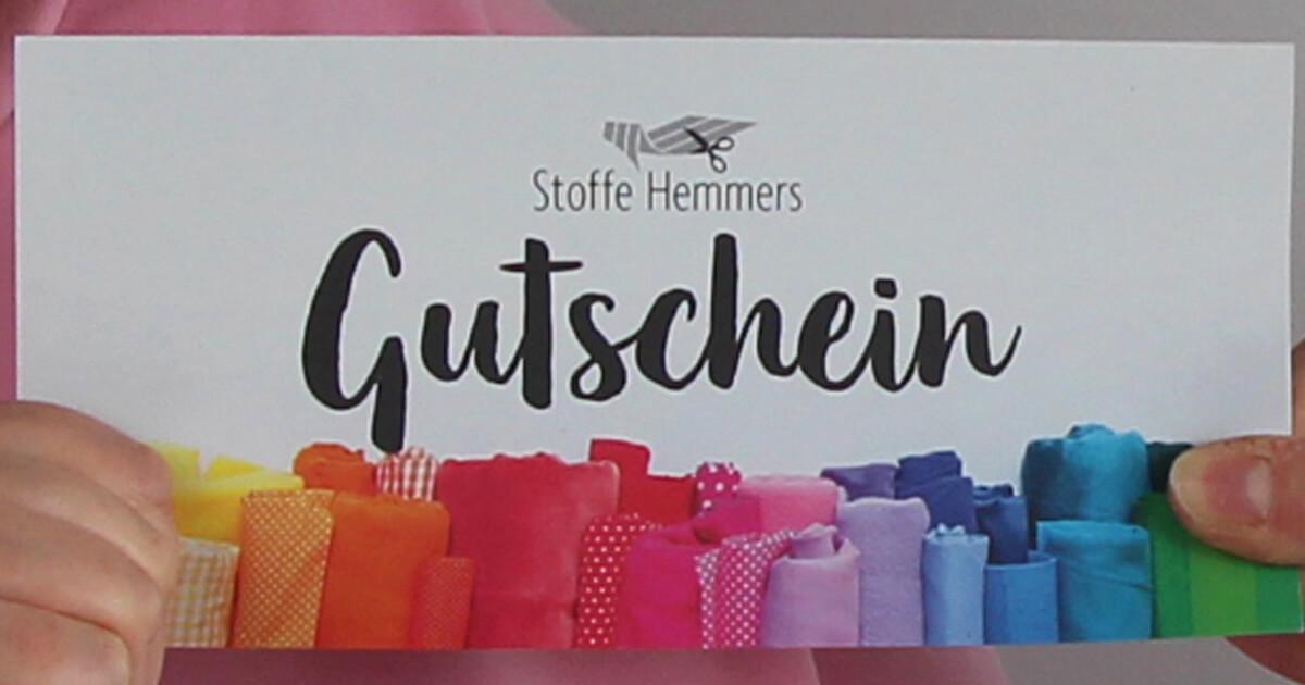 Stoff-Gutschein von Stoffe Hemmers über 30 Euro