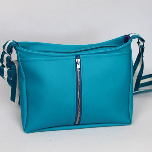 Handtasche Rio Schnittmuster - elegante Variante aus Kunstleder frontal
