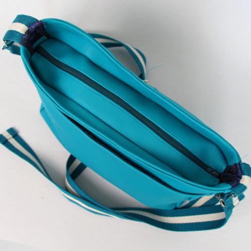 Handtasche Rio Schnittmuster - elegante Variante aus Kunstleder von oben