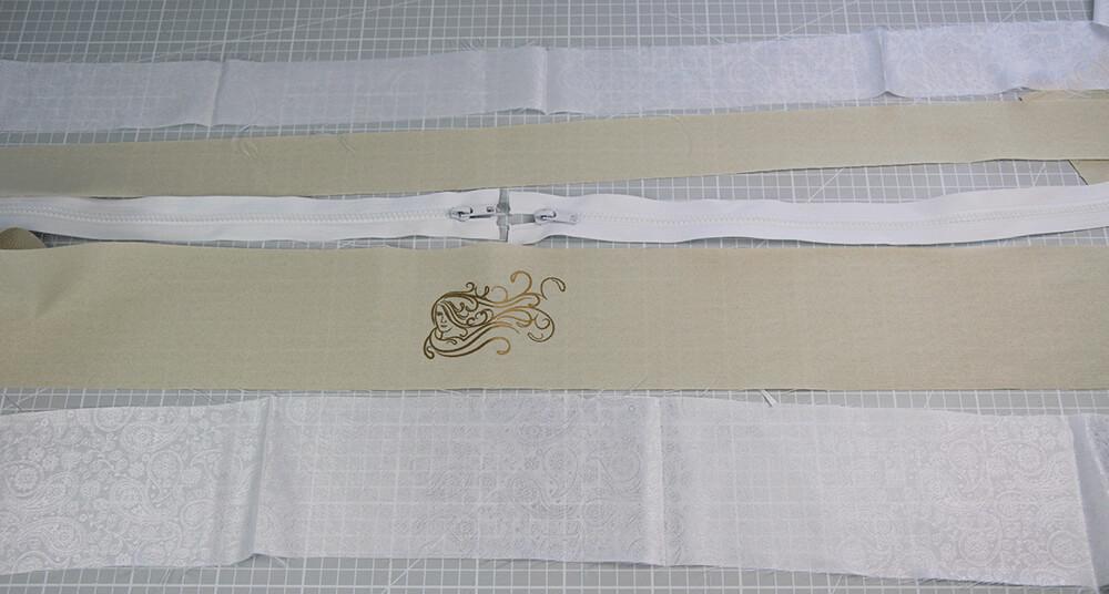 Tasche mit Reißverschluss nähen für IKEA Godmorgon - 09 Randteile
