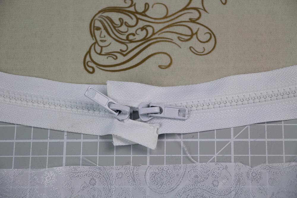 Tasche mit Reißverschluss nähen für IKEA Godmorgon - 10 Reissverschluss