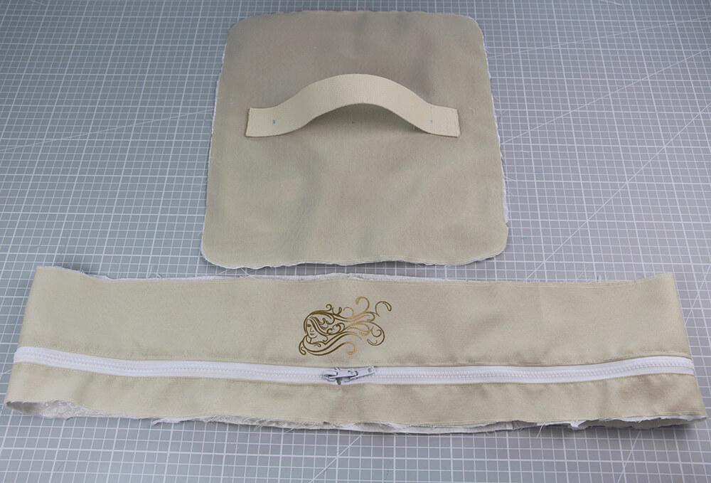 Tasche mit Reißverschluss nähen für IKEA Godmorgon - 12 Rand fertigstellen