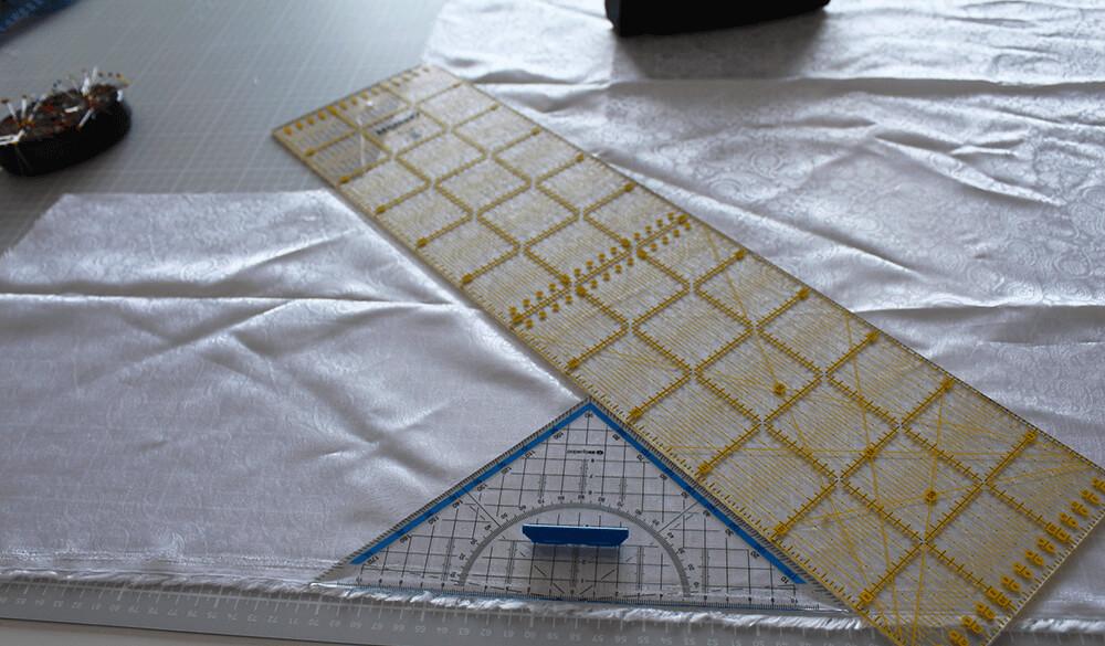 Tasche mit Reißverschluss nähen für IKEA Godmorgon - 15 Schrägband