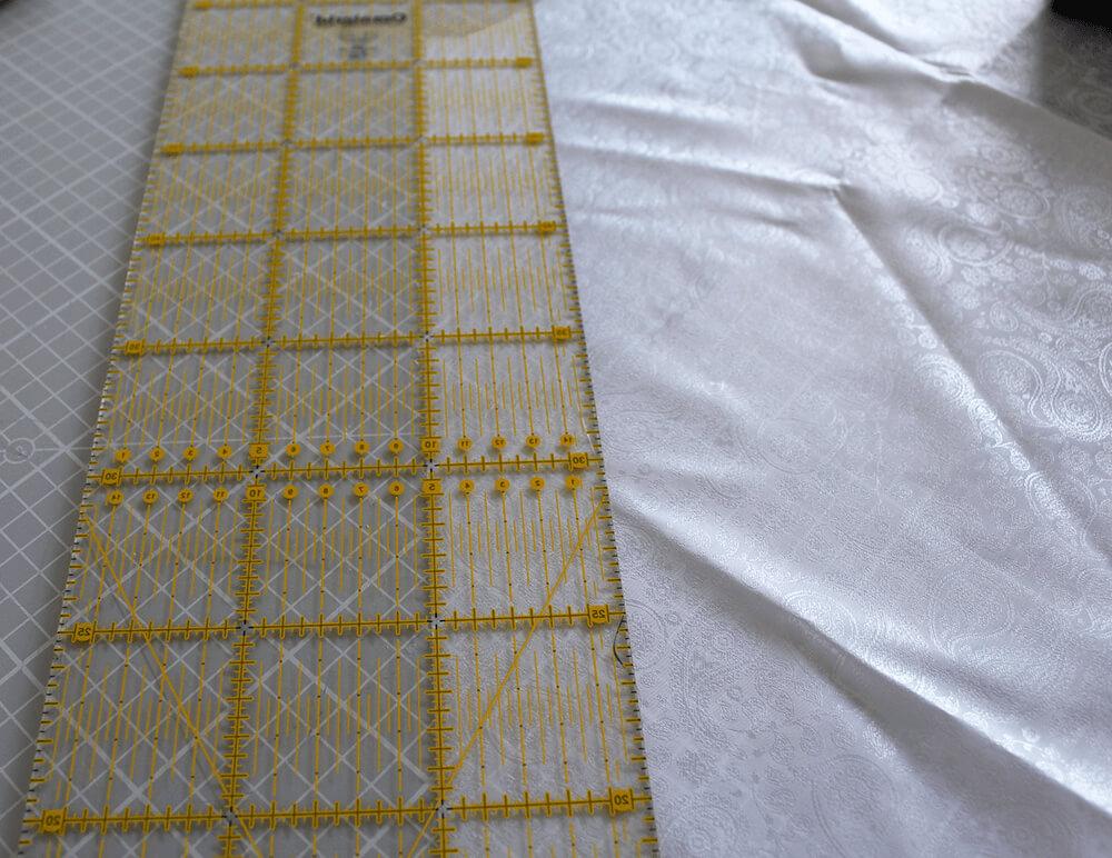 Tasche mit Reißverschluss nähen für IKEA Godmorgon - 16 Schrägband