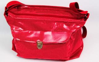 Tasche mit Reißverschluss nähen - mit Aussentasche und Innenfächern - Tasche Luzern 1