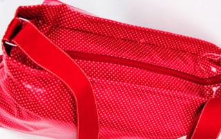Tasche mit Reißverschluss nähen - mit Aussentasche und Innenfächern - Tasche Luzern 3