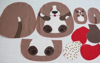 Einfaches Stofftier nähen für Anfägner - 03 Schnittteile Hund