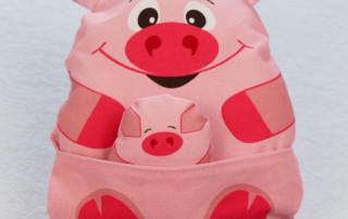 Einfaches Stofftier nähen für Anfägner - 26 fertiges Schwein