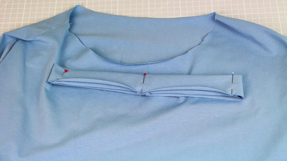 Einfaches T-Shirt nähen für Anfänger - 10 Halsausschnitt