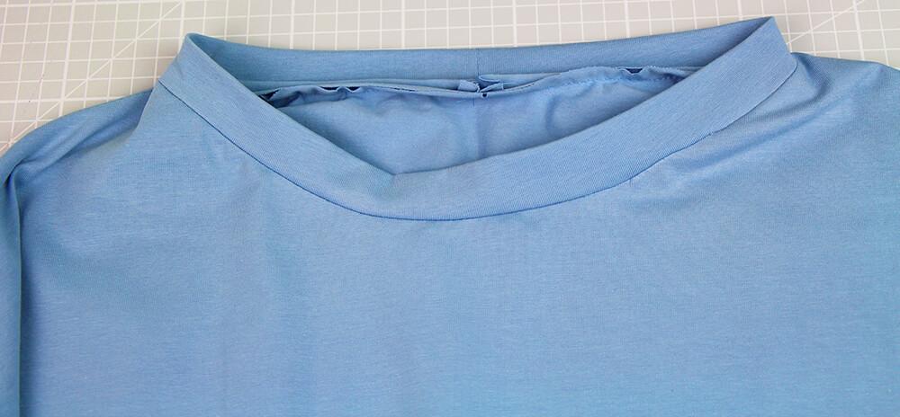 Einfaches T-Shirt nähen für Anfänger - 12 Halschausschnitt