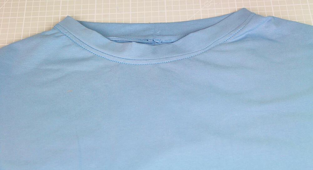 Einfaches T-Shirt nähen für Anfänger - 14 Halsausschnitt