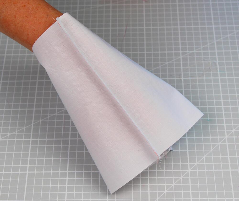 5 Minuten Mundschutz nähen Schnittmuster kostenlos - 02 zusammennähen