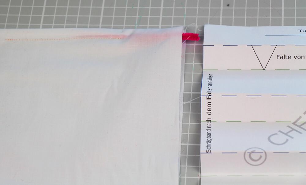 5 Minuten Mundschutz nähen Schnittmuster kostenlos - 03 Tunnel für Draht