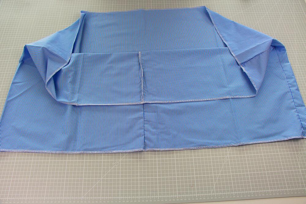 Einfaches Kleid selber nähen ohne Schnittmuster - 04 fertige Schnittteile