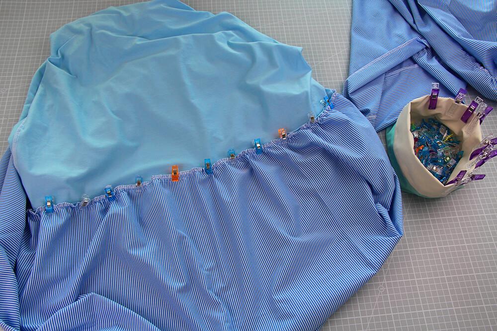 Einfaches Kleid selber nähen ohne Schnittmuster - 09 Rüschen Stufen annähen