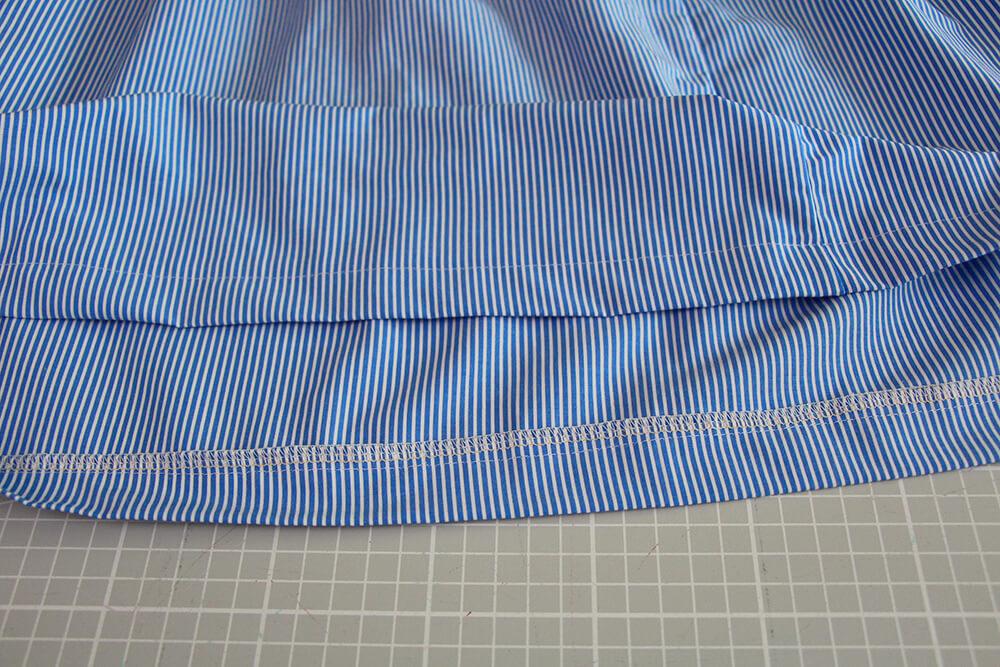 Einfaches Kleid selber nähen ohne Schnittmuster - 10 Röck säumem