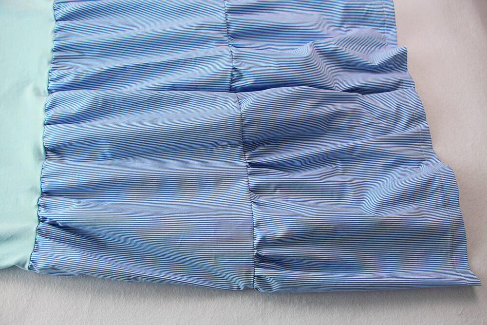 Einfaches Kleid selber nähen ohne Schnittmuster - 11 fertiger Stufenrock