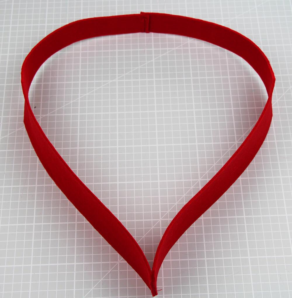 Herzförmige Geschenktasche nähen für Muttertag - 03 Henkel nähen