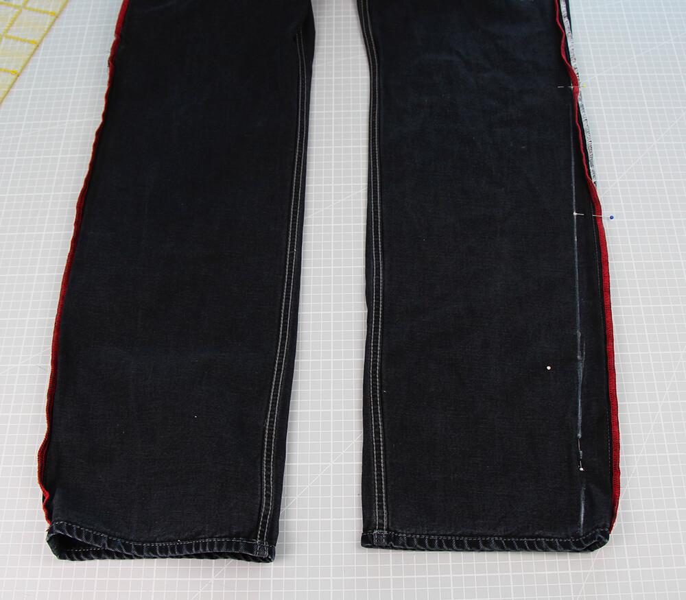 Jeans enger nähen Beine schmäler nähen für Anfänger - 01 Anzeichnen
