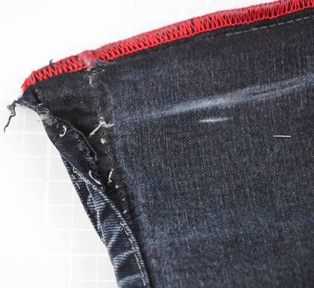 Jeans enger nähen Beine schmäler nähen für Anfänger - 03 auftrennen