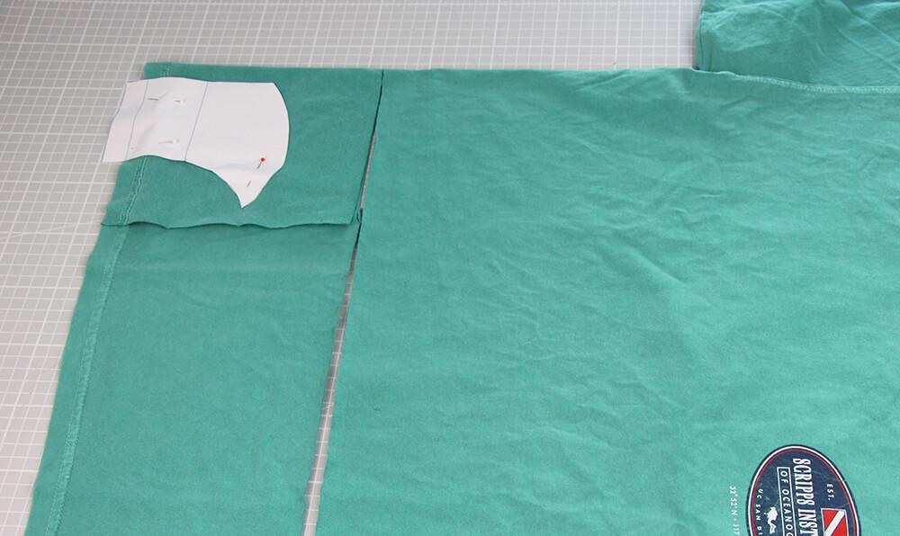 Mundschutz nähen aus Shirts mit nur einer Naht - 01 Zuschneiden