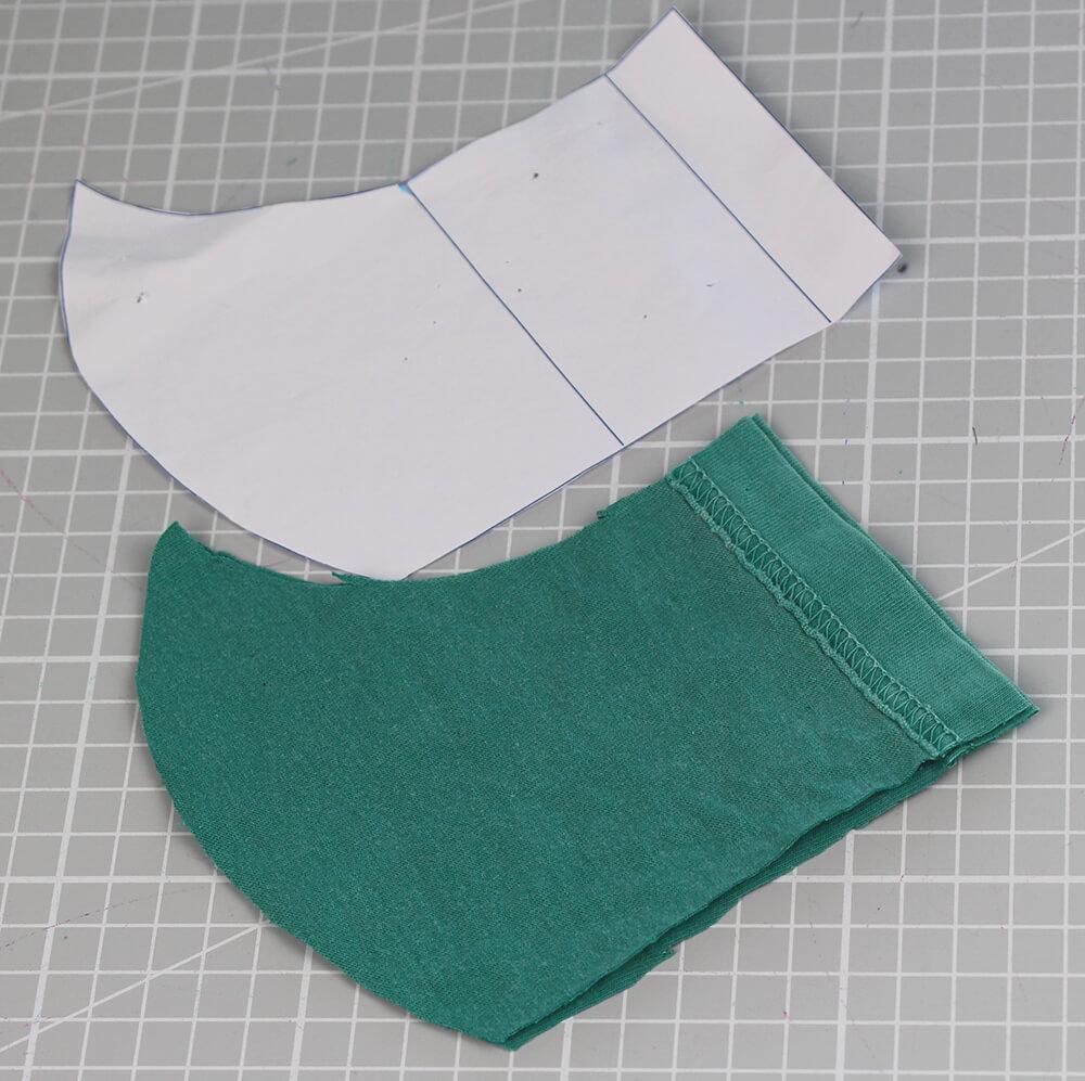 Mundschutz nähen aus Shirts mit nur einer Naht - 02 Schnittteile