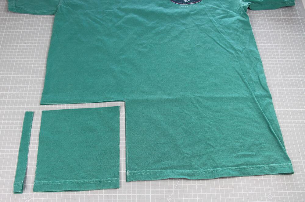 Mundschutz nähen aus Shirts nur 5 Minuten - 02 zuschneiden