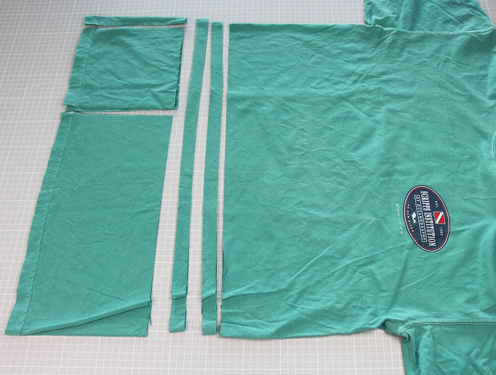 Mundschutz nähen aus Shirts nur 5 Minuten - 03 Streifen schneiden