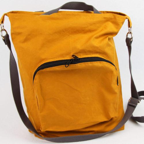 Tasche Emden Schnittmuster - Tasche mit Reißverschluss und Innentaschen von vorne