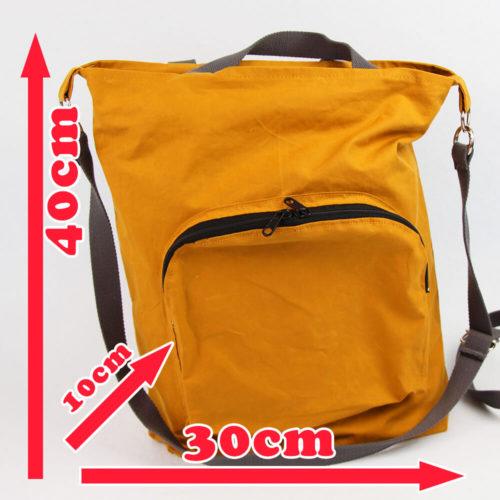 Tasche Emden Schnittmuster - Tasche mit Reißverschluss und Innentaschen mit Massen