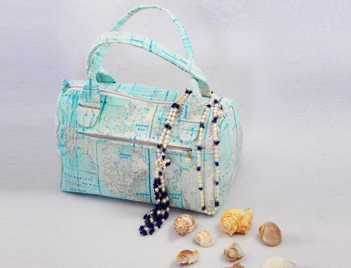 Handtasche nähen mit Reißverschluss 🐬 Nähanleitung & Schnittmuster Handtasche Sylt